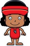 Cartoon Smiling Lifeguard Girl Stock Photos