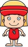 Cartoon Smiling Lifeguard Girl Royalty Free Stock Photography
