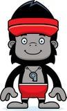 Cartoon Smiling Lifeguard Gorilla Stock Photo