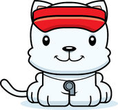Cartoon Smiling Lifeguard Kitten Stock Photography