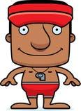 Cartoon Smiling Lifeguard Man Royalty Free Stock Photo
