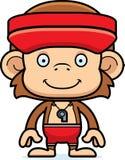 Cartoon Smiling Lifeguard Monkey Stock Photography