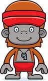 Cartoon Smiling Lifeguard Orangutan Stock Photos