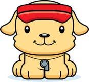 Cartoon Smiling Lifeguard Puppy Stock Photo