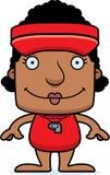 Cartoon Smiling Lifeguard Woman Royalty Free Stock Image