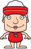 Cartoon Smiling Lifeguard Woman Stock Images