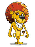 Cartoon smiling lion Stock Photos