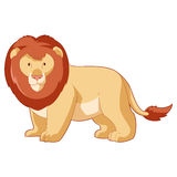 Cartoon smiling Lion Royalty Free Stock Images