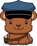Cartoon Smiling Mail Carrier Bear Stock Images