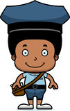 Cartoon Smiling Mail Carrier Boy Royalty Free Stock Photo