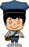 Cartoon Smiling Mail Carrier Boy Stock Photography