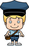 Cartoon Smiling Mail Carrier Boy Royalty Free Stock Photos