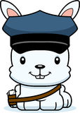 Cartoon Smiling Mail Carrier Bunny Stock Photography