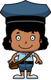 Cartoon Smiling Mail Carrier Girl Royalty Free Stock Photography