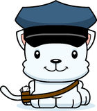 Cartoon Smiling Mail Carrier Kitten Royalty Free Stock Image