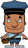 Cartoon Smiling Mail Carrier Man Stock Photography