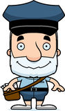 Cartoon Smiling Mail Carrier Man Stock Photo