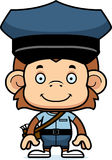 Cartoon Smiling Mail Carrier Monkey Stock Image