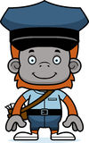Cartoon Smiling Mail Carrier Orangutan Stock Photos