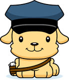 Cartoon Smiling Mail Carrier Puppy Royalty Free Stock Photos