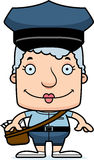 Cartoon Smiling Mail Carrier Woman Royalty Free Stock Photo