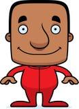 Cartoon Smiling Man In Pajamas Royalty Free Stock Photography