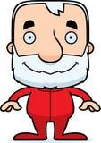Cartoon Smiling Man In Pajamas Stock Image