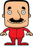 Cartoon Smiling Man In Pajamas Stock Photos