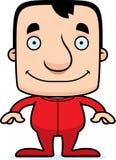 Cartoon Smiling Man In Pajamas Royalty Free Stock Images