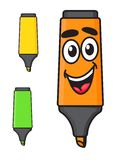 Cartoon smiling marker character Royalty Free Stock Photos