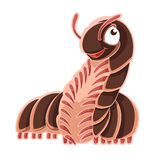 Cartoon smiling Millipede Royalty Free Stock Image