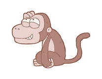 Cartoon smiling monkey Royalty Free Stock Photos