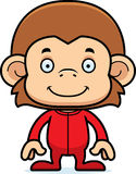 Cartoon Smiling Monkey In Pajamas Stock Photography