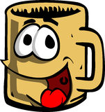Cartoon smiling mug Royalty Free Stock Image