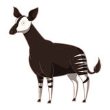 Cartoon smiling Okapi Royalty Free Stock Image