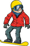 Cartoon smiling olympic snowboarder Stock Image