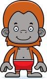 Cartoon Smiling Orangutan Swimsuit Stock Photography