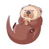 Cartoon smiling Otter. Vector image of the Cartoon smiling otter Royalty Free Stock Images