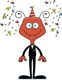 Cartoon Smiling Party Ant Royalty Free Stock Images