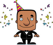 Cartoon Smiling Party Man Royalty Free Stock Photo