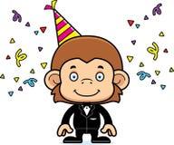 Cartoon Smiling Party Monkey Stock Photos