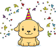 Cartoon Smiling Party Puppy Stock Images