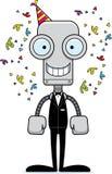 Cartoon Smiling Party Robot Stock Photos