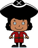 Cartoon Smiling Pirate Girl Royalty Free Stock Images