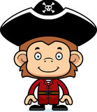 Cartoon Smiling Pirate Monkey Stock Photography