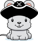 Cartoon Smiling Pirate Mouse Royalty Free Stock Photography