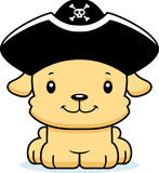 Cartoon Smiling Pirate Puppy Stock Photography