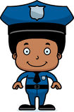 Cartoon Smiling Police Officer Boy Royalty Free Stock Photos