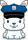 Cartoon Smiling Police Officer Bunny Royalty Free Stock Image