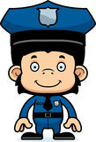Cartoon Smiling Police Officer Chimpanzee Royalty Free Stock Photos